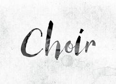Choir Concept Painted in Ink Stock Illustration