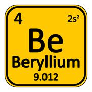 Periodic table element beryllium icon. Stock Illustration