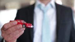 Car salesman concept Stock Footage