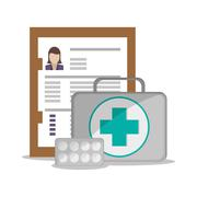 Medical kit and Health care design Piirros