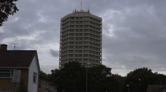 Block of Flats in England Stock Footage