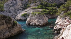 Sujiton Calanques of Marseille Stock Footage