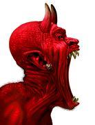 Devil Scream Stock Illustration