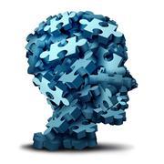 Psychology Puzzle Stock Illustration