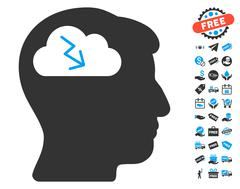 Brainstorming Icon With Free Bonus Piirros