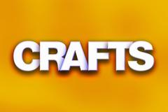 Crafts Concept Colorful Word Art Stock Illustration