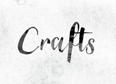 Crafts Concept Painted in Ink Stock Illustration
