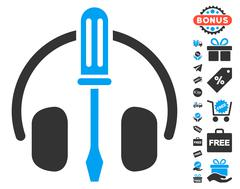 Headphones Tuning Screwdriver Icon With Free Bonus Stock Illustration