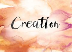 Creation Colorful Watercolor and Ink Word Art Piirros