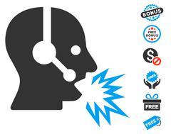 Operator Shout Icon With Free Bonus Stock Illustration