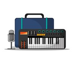 Piano instrument and music design Piirros