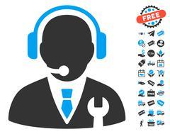 Service Manager Icon With Free Bonus Stock Illustration