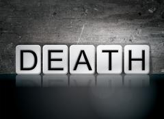 Death Tiled Letters Concept and Theme Stock Illustration