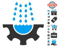 Water Shower Service Gear Icon With Free Bonus Stock Illustration