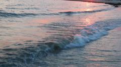 Beaches resorts or beach vacations idea - Beautiful sunset sunset at sea Stock Footage