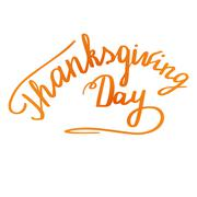 Thanksgiving hand lettering and calligraphy design Piirros