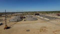 Aerial Scottsdale Water Treatment Plant Stock Footage