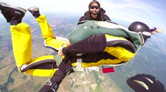 Skydivers in an accelerated free fall, editorial Stock Footage