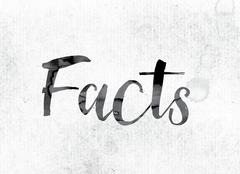 Facts Concept Painted in Ink Stock Illustration