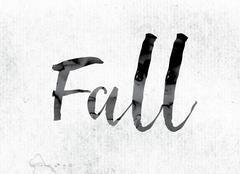 Fall Concept Painted in Ink Stock Illustration