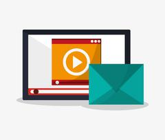 Tablet and digital marketing design Stock Illustration