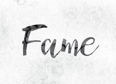 Fame Concept Painted in Ink Stock Illustration