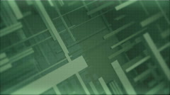 Green background for the titles of the moving lines and the grid Stock Footage