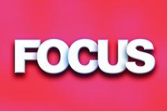Focus Concept Colorful Word Art Stock Illustration