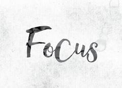 Focus Concept Painted in Ink Stock Illustration