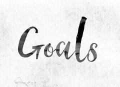 Goals Concept Painted in Ink Piirros