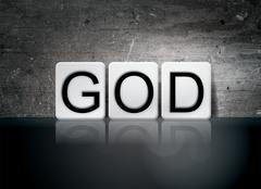 God Tiled Letters Concept and Theme Stock Illustration
