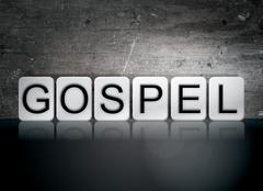 Gospel Tiled Letters Concept and Theme Stock Illustration