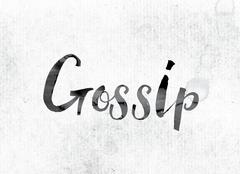 Gossip Concept Painted in Ink Stock Illustration