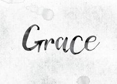 Grace Concept Painted in Ink Stock Illustration