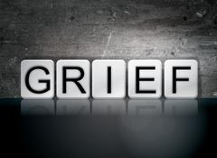 Grief Tiled Letters Concept and Theme Stock Illustration