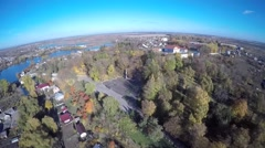 Aerial view of Zbarazh town, Ukraine Stock Footage