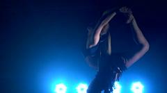 Pole dance woman. acrobatics on the pole Stock Footage
