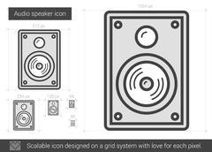 Audio speaker line icon Piirros