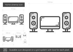 Home cinema line icon Stock Illustration