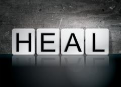 Heal Tiled Letters Concept and Theme Stock Illustration