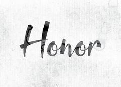 Honor Concept Painted in Ink Stock Illustration