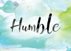 Humble Colorful Watercolor and Ink Word Art Stock Illustration