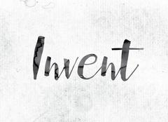 Invent Concept Painted in Ink Stock Illustration