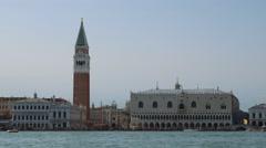 Beautiful vivid color panorama of Venice, Italy. Stock Footage