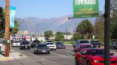 Kearns township sign mountain Stock Footage