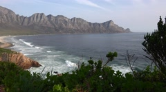 Lonely South African coast (4K footage) Stock Footage