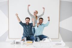 Team of creative colleagues in modern office Kuvituskuvat