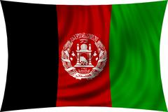 Flag of Afghanistan waving isolated on white Kuvituskuvat