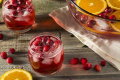Red Cranberry Holiday Punch Stock Photos