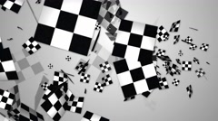 Random checkered flag abstract motion background Stock Footage